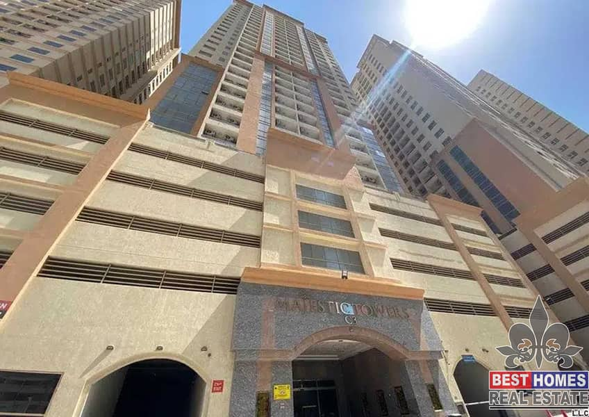 Amazing 1 bedrooms Available for rent In Majestic Tower Ajman