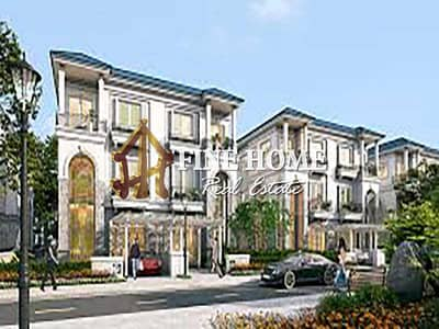 4 Bedroom Villa Compound for Sale in Al Nahyan, Abu Dhabi - Corner and 2 Streets Compound 4 Villas   Big ROI