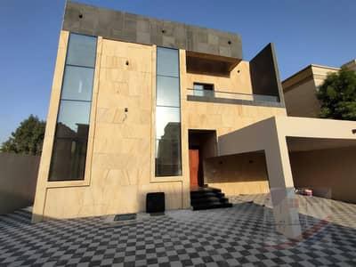 5 Bedroom Villa for Sale in Al Rawda, Ajman - Corner of two streets, modern facade, palaces design, near Sheikh Ammar Street, directly, freehold