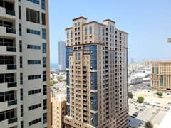 SPACIOUS PARTIAL SEA VIEW  TWO BHK FOR RENT IN AJMAN ONE WITH PARKING T