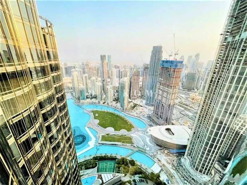 2 Burj Khalifa Tower | VACANT | 2 BR | Opera View | Unfurnished