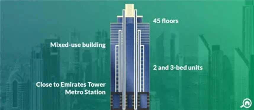 مكتب كبير جاهز للإستئجار شارع الشيخ زايد ، برج لطيفة - بالقرب من المترو !!