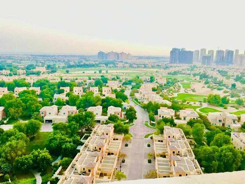 FULL GOLF VIEW HUGE CHILLER FREE 1 BEDROOM  APARTMENT FOR SALE