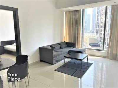 1 Bedroom Apartment for Rent in Dubai Marina, Dubai - Furnished - Multiple Cheques - Low Floor