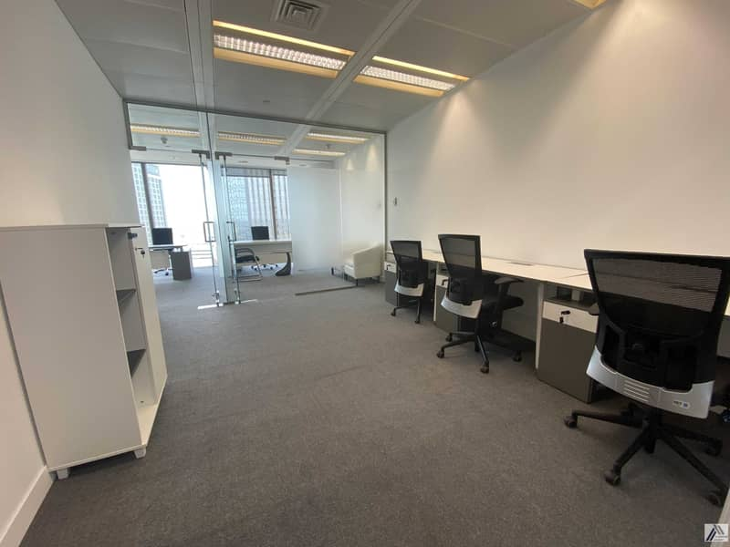 BEST FURNISHED OFFICE -GOOD FOR 10 PERSONS WITH MANAGER CABIN -LINKED WITH MALL AND METRO