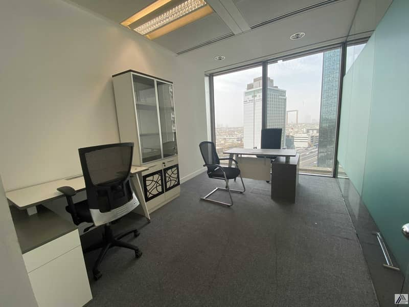 2 BEST FURNISHED OFFICE -GOOD FOR 10 PERSONS WITH MANAGER CABIN -LINKED WITH MALL AND METRO