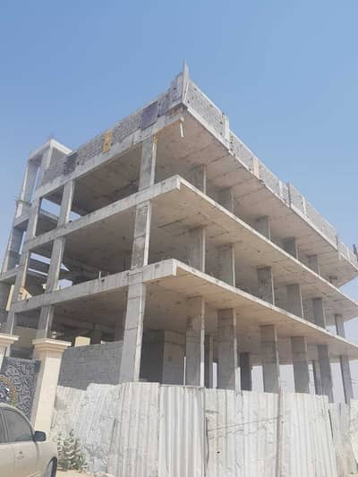 Building for Sale in Al Mowaihat, Ajman - G+2 Structure for sale in mowhaiyat Corner plot Plot size 5000 sq ft  8 one bedroom flat  7 shops  Price 2 million