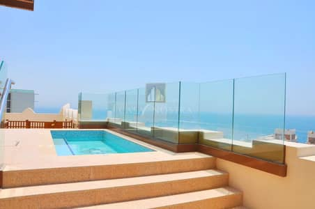 4 Bedroom Flat for Sale in Palm Jumeirah, Dubai - Fully Upgraded 4BR Duplex Vacant Full sea view
