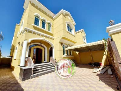 5 Bedroom Villa for Sale in Al Mowaihat, Ajman - For sale a very luxurious villa, freehold for all nationalities, in Ajman, super deluxe finishing, with the latest modern finishes