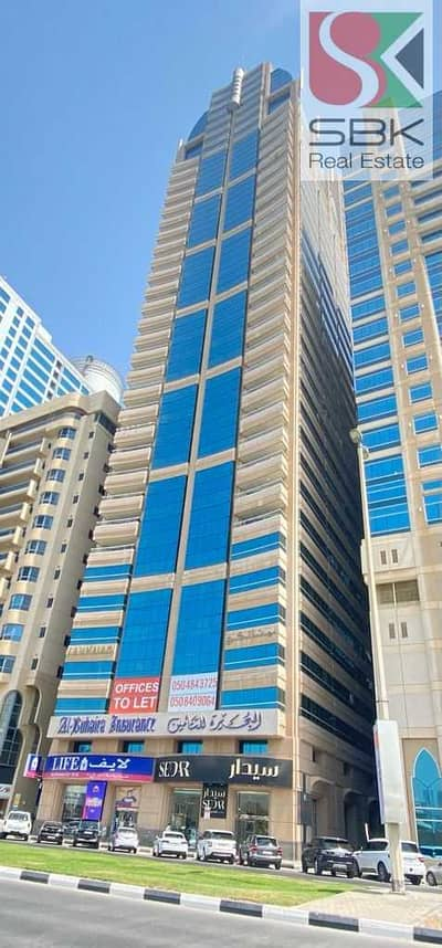 Office for Rent in Corniche Al Buhaira, Sharjah - Office Space Available with Excellent Waterfront View in Buhaira Corniche