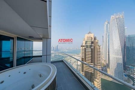 بنتهاوس 5 غرف نوم للبيع في دبي مارينا، دبي - Vacant | Smart Home 5 Br | Private Jacuzzi