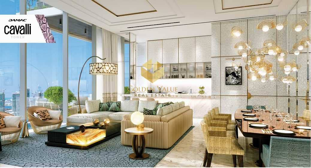 Cavalli Brand   Sea View   Payment plan 5 years   High end & luxury finishing   Amazing view