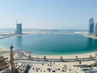 2 Bedroom Apartment for Rent in Al Mamzar, Sharjah - One Month free Ac free Luxurious 2bhk in 47k with store sea view parking free all facilities 4 payments