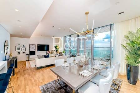 شقة 2 غرفة نوم للبيع في جزيرة بلوواترز، دبي - High End Furniture | Full Sea View | VOT