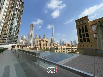 2 Bedroom Apartment for Rent in Downtown Dubai, Dubai - Rare Huge Terrace for Families - Brand New Tower