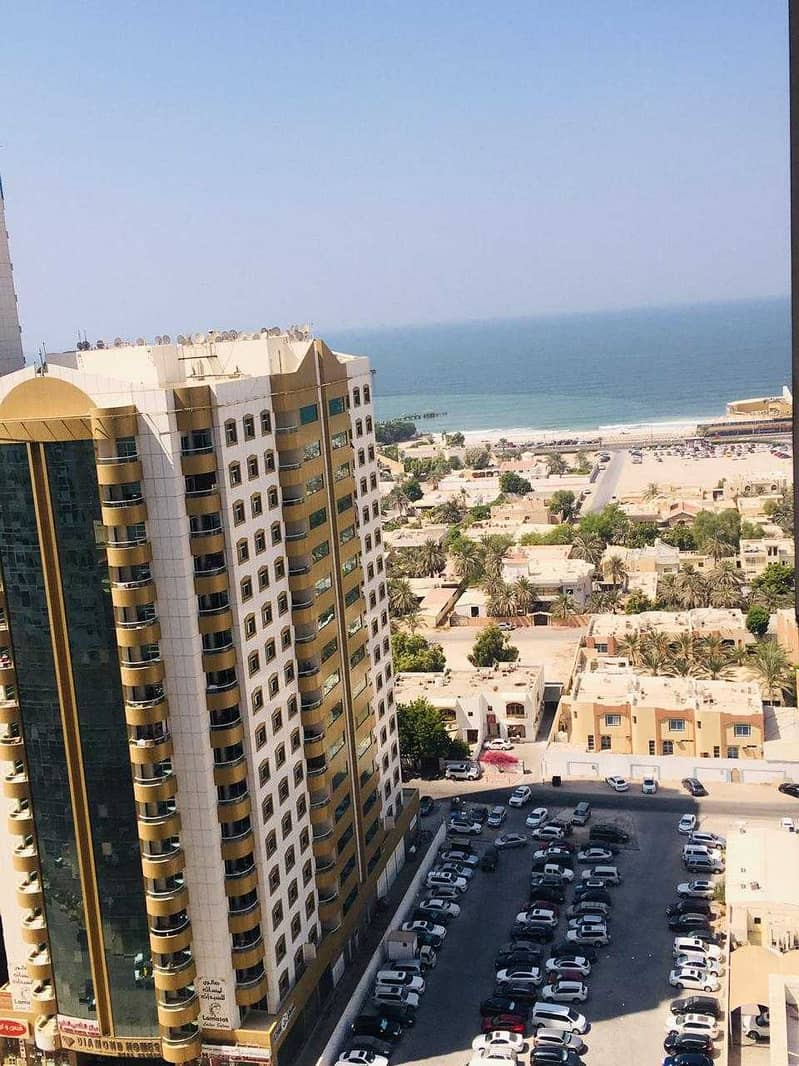 1 bhk partial sea view with car parking for sale in Ajman one tower