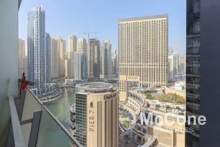 فلیٹ 1 غرفة نوم للايجار في دبي مارينا، دبي - Fully Furnished | Full Marina View | Modern Living