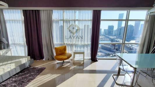 استوديو  للايجار في الخليج التجاري، دبي - Hotel-style furniture for luxury living @ Bay Square