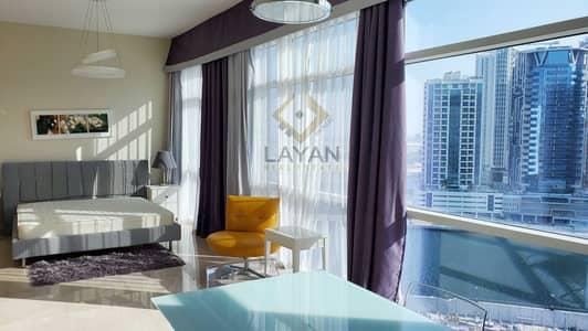 فلیٹ 1 غرفة نوم للايجار في الخليج التجاري، دبي - Fully furnished terrace Apartment / Hotel standards