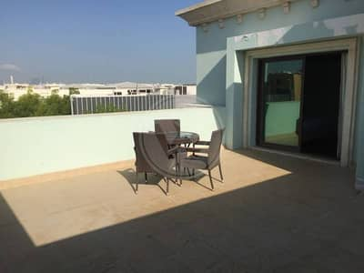 Furnished Studio with Rare Huge Terrace!
