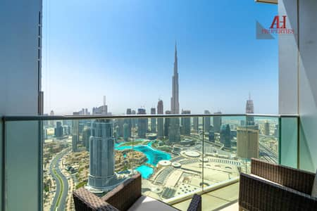 2 Bedroom Flat for Sale in Downtown Dubai, Dubai - Highest Floor - 02 Series - Vacant October - Full Fountain View