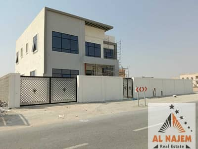 5 Bedroom Villa for Sale in Hoshi, Sharjah - For sale, a modern villa with an external extension, central air conditioning, with electricity and water, a luxurious modern European design, in the