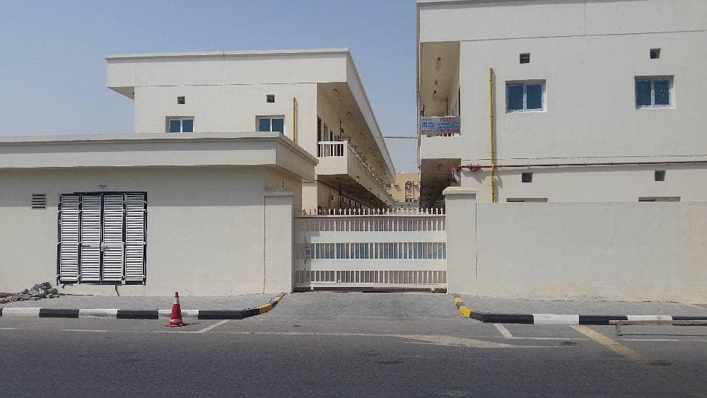 سكن للعمال للايجار 80 غرفة المنطقة الصناعية 4 الشارقة