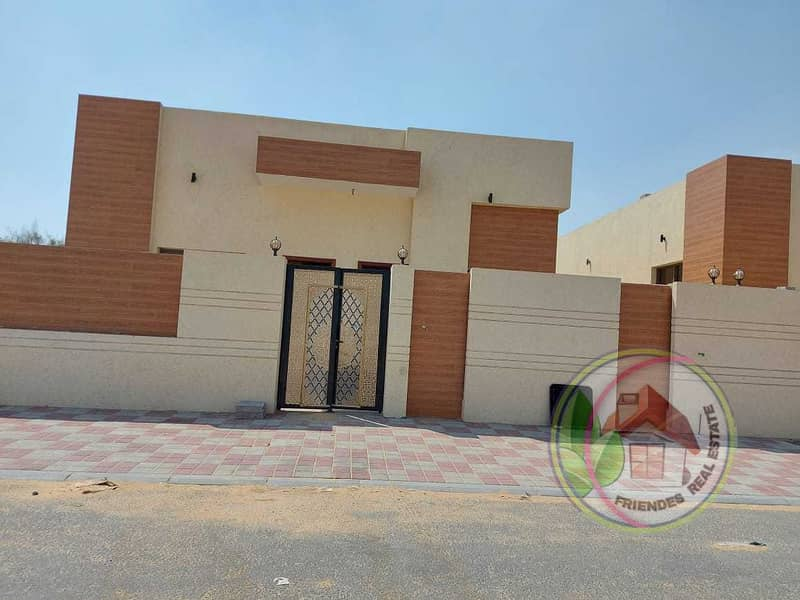 Villa for sale, super deluxe finishing, next to Sheikh Mohammed bin Zayed Street, at a very attractive price