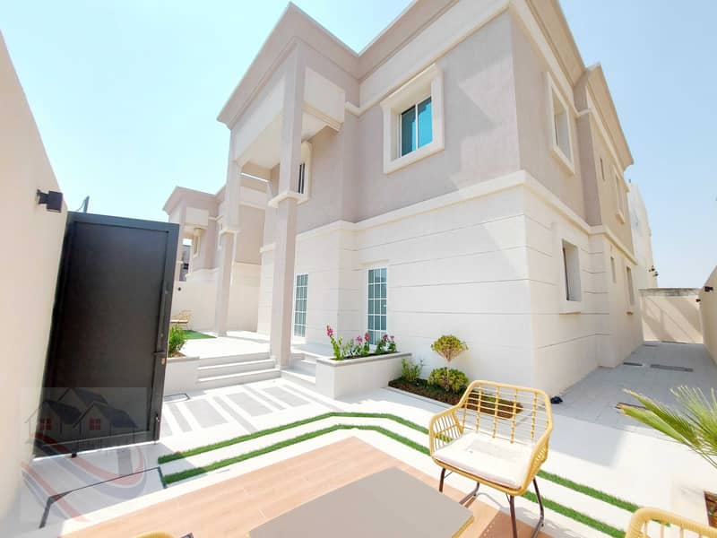 Villa for sale, the first inhabitant of the villa, furnished and adaptations, a vehicle, a modern villa for sale, one of the most luxurious villas in