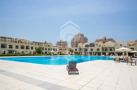 3 Bedroom Townhouse for Sale in Al Hamra Village, Ras Al Khaimah - Pool View - 3 BR Bayti Townhouse with Maids Room