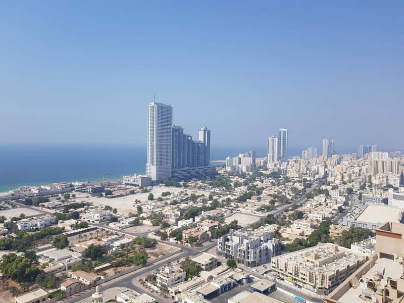 Sea View 2 Bedroom Hall for rent in Ajman One Towers