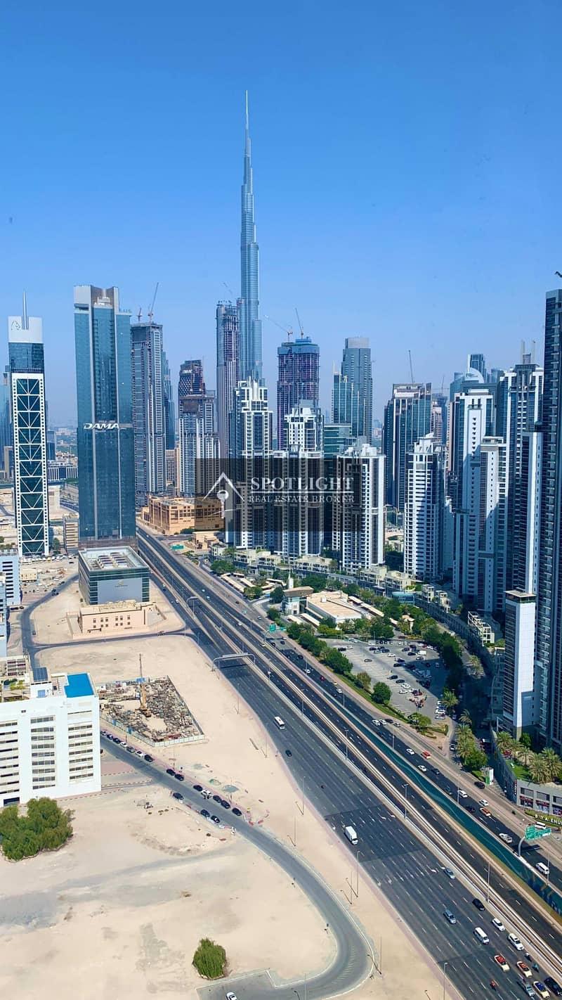 2 New Tower | 1-Br + Maid | Burj Khalifa View | Walk To Metro | Lowest Price