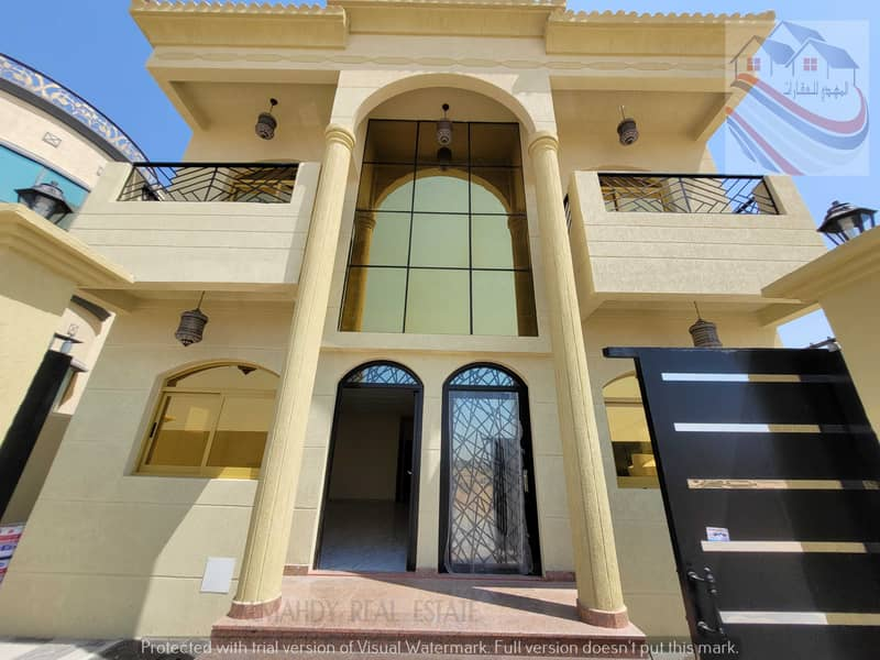 For sale villa, excellent Arabic design, at an excellent price, negotiable, close to all services, near Sheikh Mohammed bin Zayed Street