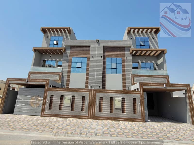 For sale villa, excellent European design, at an excellent price, negotiable, close to all services, near Sheikh Mohammed bin Zayed Street
