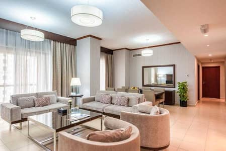 4 Bedroom Hotel Apartment for Rent in Jumeirah Beach Residence (JBR), Dubai - Two Bedroom Hotel Apartment all  bills included JBR