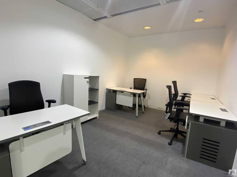 Serviced Furnished Office Suitable for 4 Staff / Linked with Metro and Mall