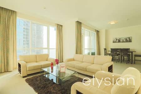 شقة 2 غرفة نوم للايجار في جميرا بيتش ريزيدنس، دبي - Sea View | Fully Furnished | Best Facilities