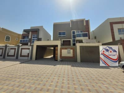 5 Bedroom Villa for Sale in Al Yasmeen, Ajman - For sale, European design villa, super finishing, at a great price negotiable freehold bank financing close to all services Sheikh Mohammed bn zaiedst