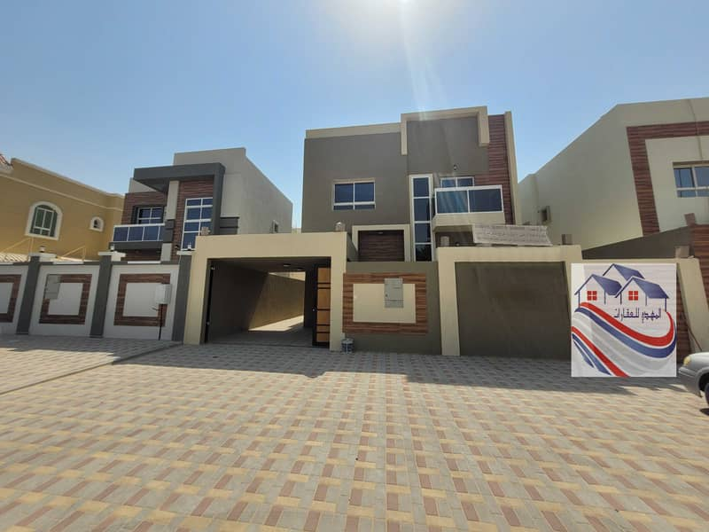 For sale, European design villa, super finishing, at a great price negotiable freehold bank financing close to all services Sheikh Mohammed bn zaiedst
