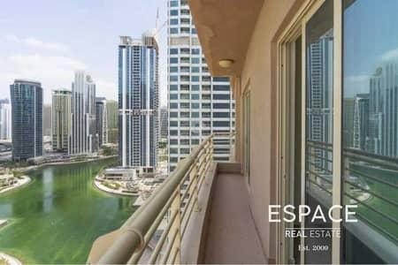 فلیٹ 1 غرفة نوم للايجار في أبراج بحيرات الجميرا، دبي - Vacant | Unfurnished | Lake Views | Keys with me