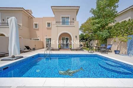 فیلا 4 غرف نوم للبيع في المرابع العربية، دبي - Spectacular Lake View Villa   with Private Pool
