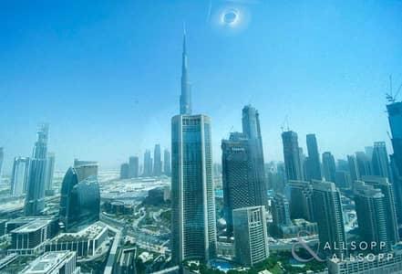 فلیٹ 2 غرفة نوم للايجار في وسط مدينة دبي، دبي - Burj Khalifa View | Vacant | 2 Bedrooms