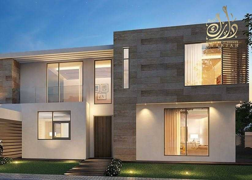 villas in the most beautiful and largest projects in Sharjah with 10% down payment