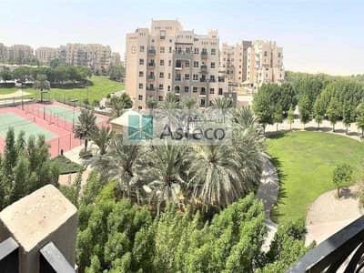 1 Bedroom Flat for Rent in Remraam, Dubai - Inner circle|Garden & Tennis court view|Balcony