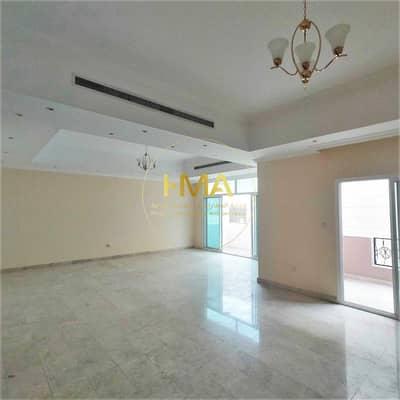 6 Bedroom Villa for Rent in Al Nahyan, Abu Dhabi - villa in Al Nahyan - parking with yard
