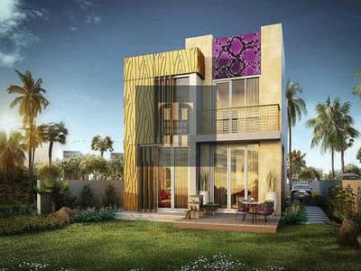 3 Bedroom Townhouse for Sale in DAMAC Hills 2 (Akoya Oxygen), Dubai - Iconic villa designed by Roberto Cavalli in a easy payment