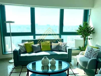 1 Bedroom Apartment for Rent in Al Markaziya, Abu Dhabi - Amazing sea view  Huge Apt  All Facilizes 