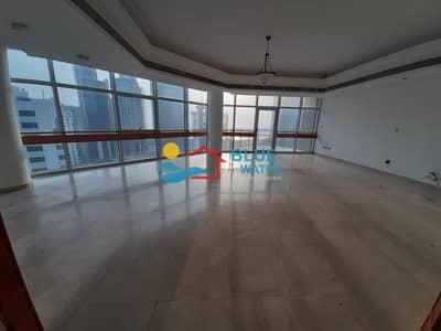فلیٹ 4 غرف نوم للايجار في شارع النصر، أبوظبي - NO Commission Sea View 4 BR With Parking.