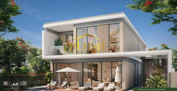 5 Bedroom Villa for Sale in Tilal Al Ghaf, Dubai - Garden Suite   On Park   Premium Quality