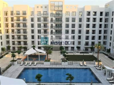 2 Bedroom Flat for Sale in Town Square, Dubai - Balcony with Laundry room | Well Maintained